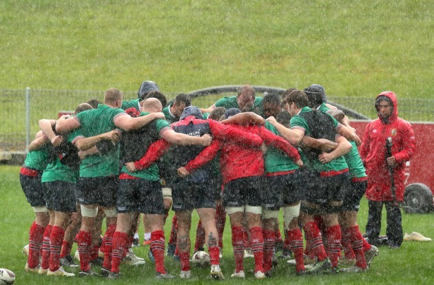 The team huddle