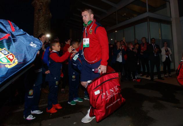 Sean O'Brien leaves the team hotel