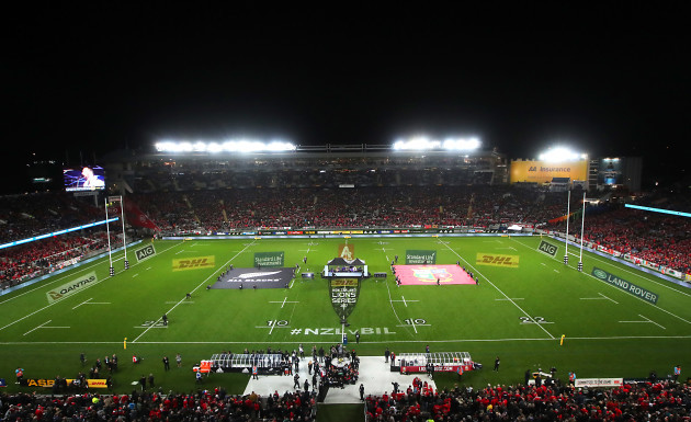 A view of Eden Park before the game