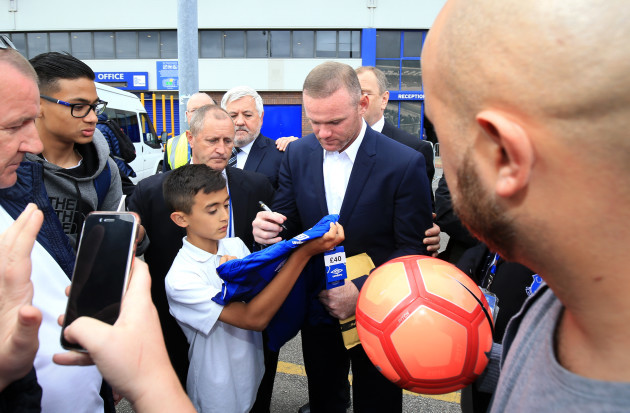Wayne Rooney Press Conference - Goodison Park