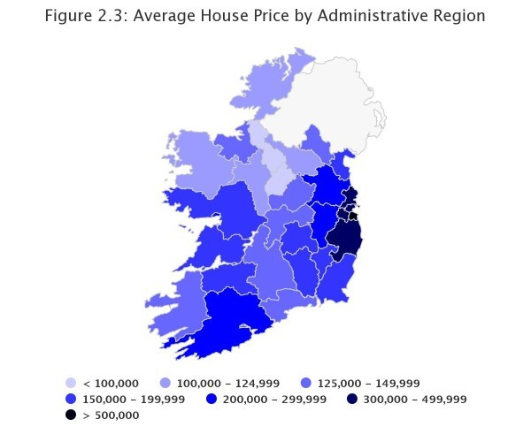 Only One Irish County Has An Average House Price Under 100000
