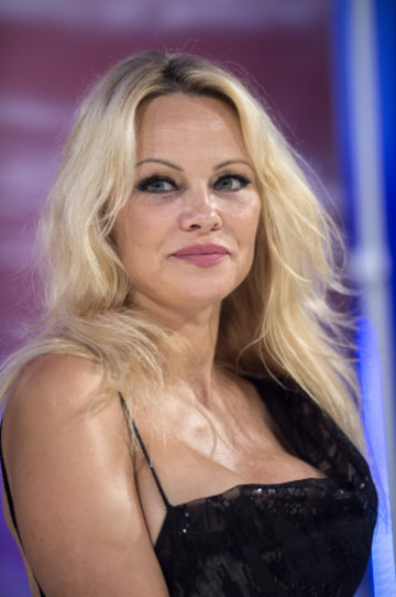 Pamela Anderson attends the Rock My Swim Fashion Show
