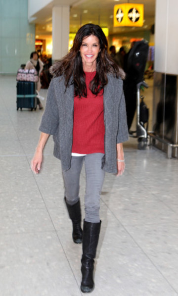 Janice Dickenson sighting - Heathrow