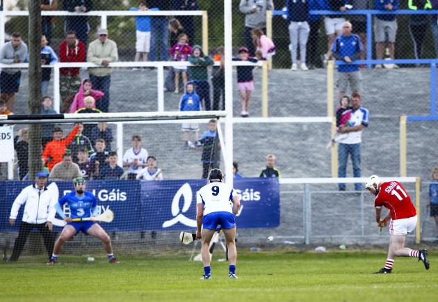 Declan Dalton strikes a penalty at the final minute