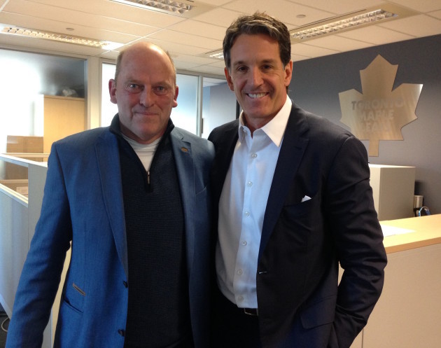 Ger Loughnane with ice hockey legend Brendan Shanahan