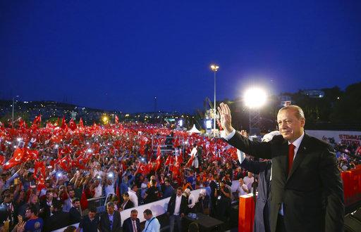 APTOPIX Turkey Coup Anniversary