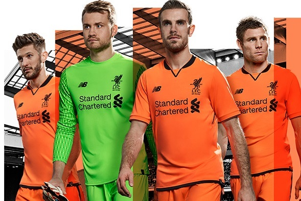 best authentic e1562 0f636 Liverpool launch new luminous orange third kit for 2017/18 ...