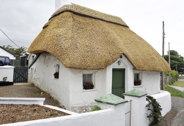 Irish thatched roof cottage near Gorey