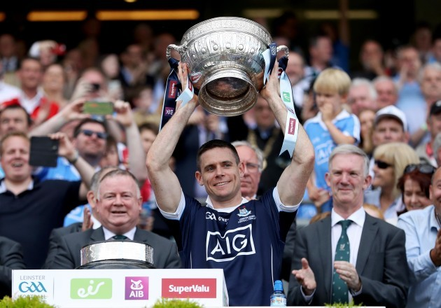 Stephen Cluxton lifts the trophy