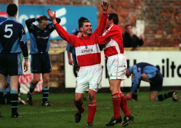 Pat Morley and John Caulfield celebrates 12/12/1999