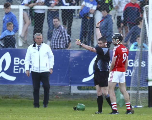 Darragh Fitzgibbon is sent off