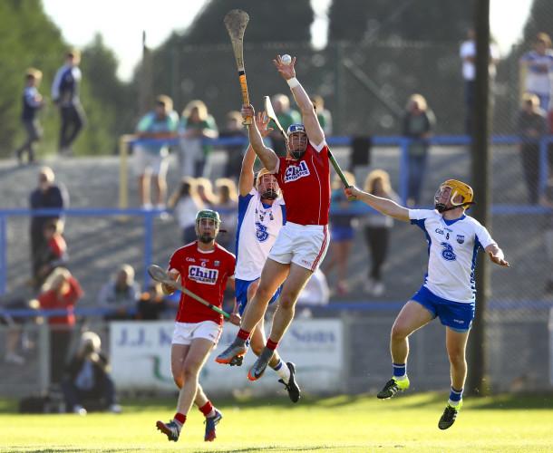 Sean OÕDonoghue wins the ball in the air