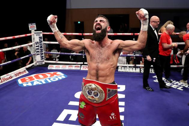 Jono Carroll celebrates winning