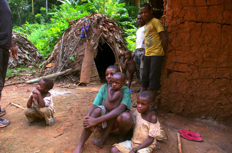 The Baka people in Cameroon