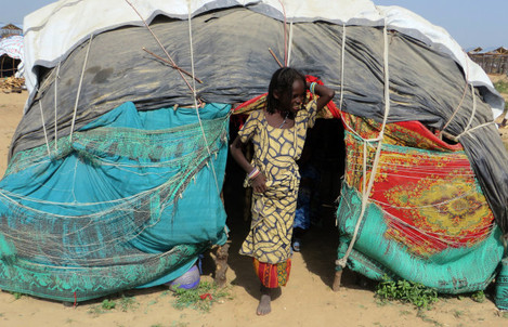 Refugee camp in Nigeria