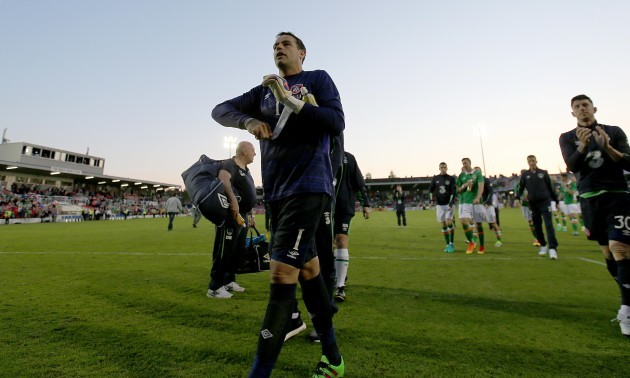 David Forde at the end of the game