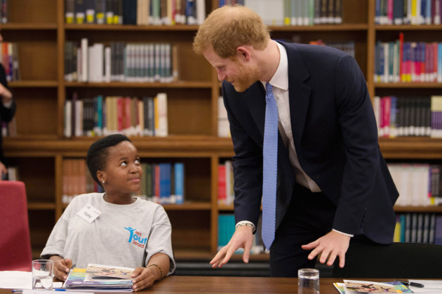 Prince Harry visits School of Hygiene and Tropical Medicine