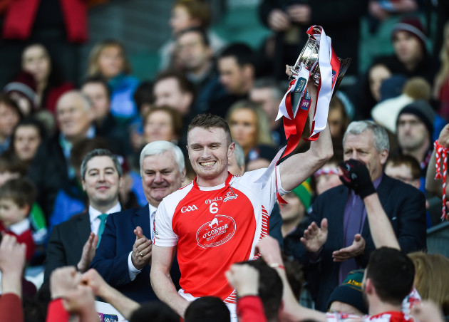 Shane O'Donovan lifts the cup