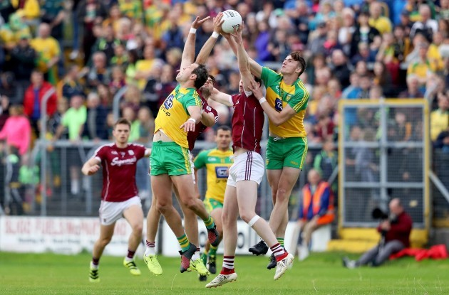Paul Conroy and Thomas Flynn with Jason McGee and Michael Murphy
