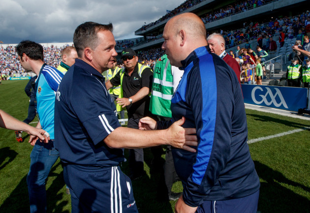 Davy Fitzgerald and Derek McGrath