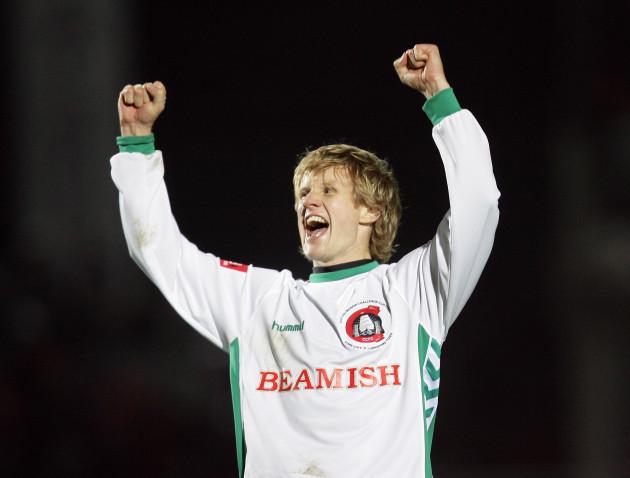 Colin O'Brien celebrates