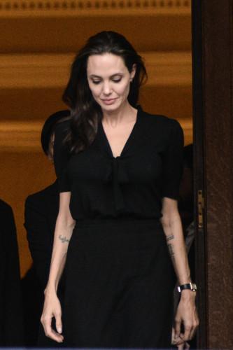 Angelina Jolie visit to Greece