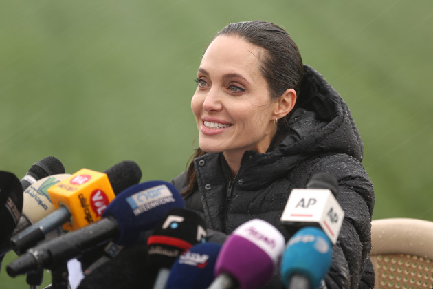 Angelina Jolie visit to Syrian Refugees in Lebanon