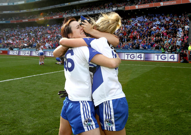 Mona Sheridan and Geraldine Sheridan celebrate