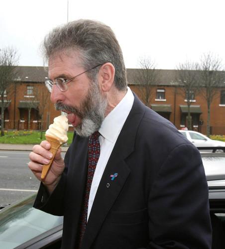 Sinn Fein leader's ice cream break