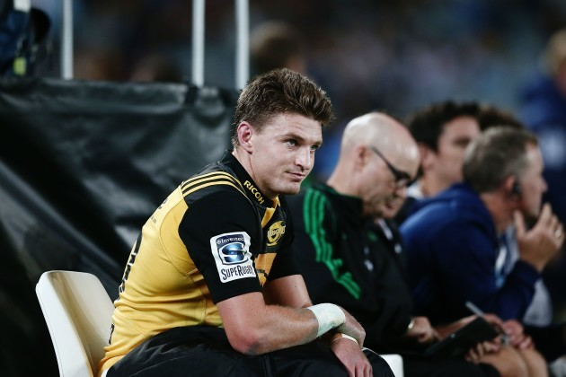 Beauden Barrett after being yellow carded