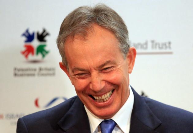 Former Prime Minister Tony Blair meets Ronald Cohen