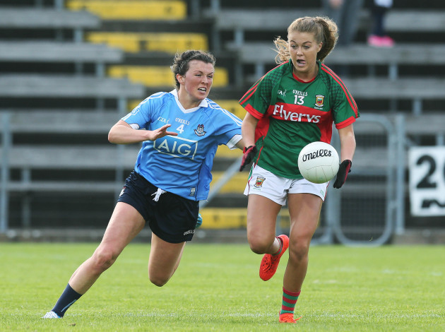 Leah Caffrey tackles Sarah Rowe