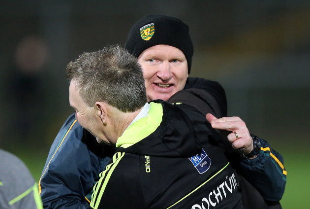 Donegal manager Declan Bonner celebrates after the game