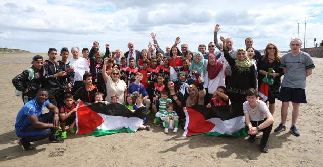 Palestinian footballers tour