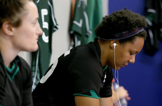 Sophie Spence before the game