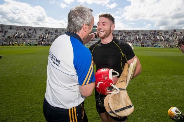 Michael Ryan celebrates with Daragh Mooney