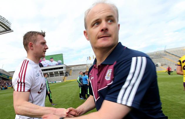 Joe Canning with Michael Donoghue