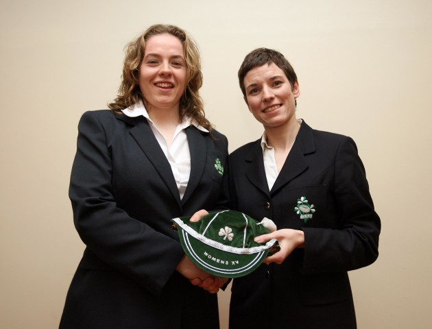 Susan Carty presents first cap to Niamh Briggs