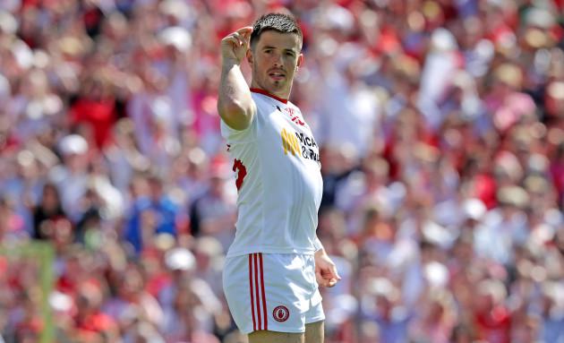 Ronan O'Neill celebrates scoring a goal
