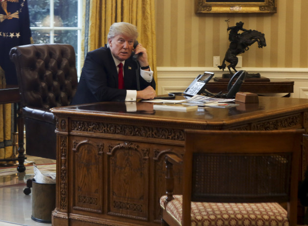 US President on the phone with King of Saudi Arabia