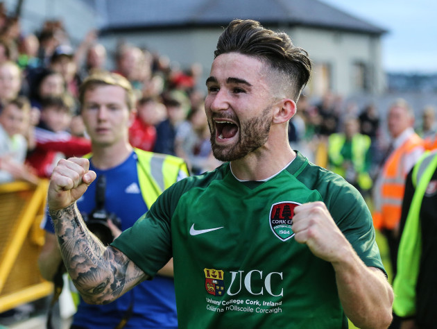 Sean Maguire celebrates after the game