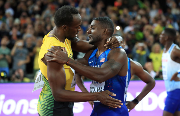 Usain Bolt and Justin Gatlin File Photo