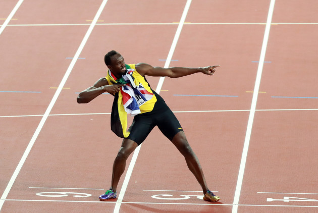 (SP)BRITAIN-LONDON-ATHLETICS-WORLD CHAMPIONSHIPS-DAY 2-BOLT