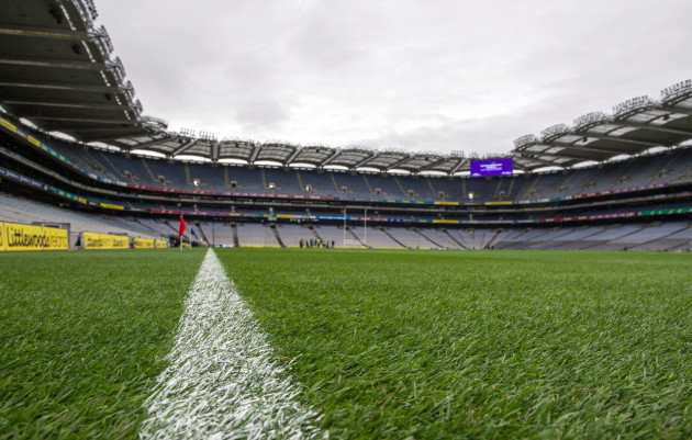 A view of Croke Park before the game