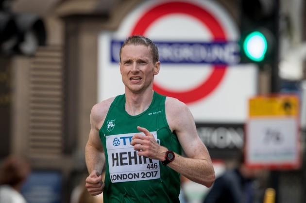 Sean Hehir during the marathon