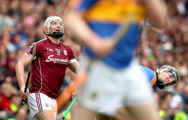 Joe Canning looks on after scoring the winning point