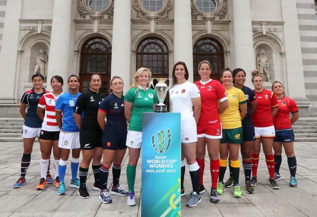 Women's Rugby World Cup Captains Meet An Taoiseach Leo Varadkar