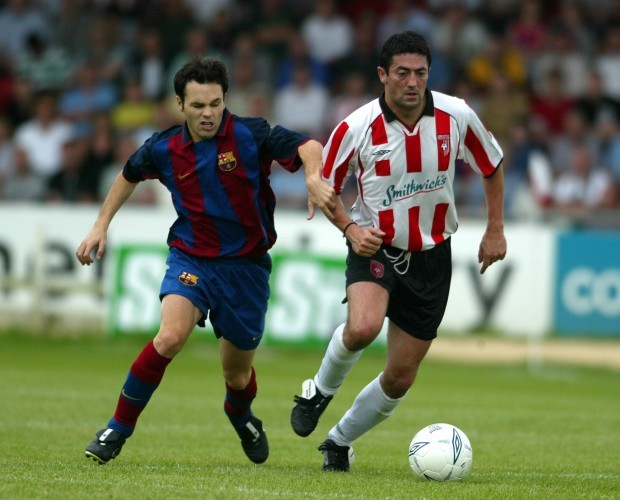 Peter Hutton and Andres Iniesta