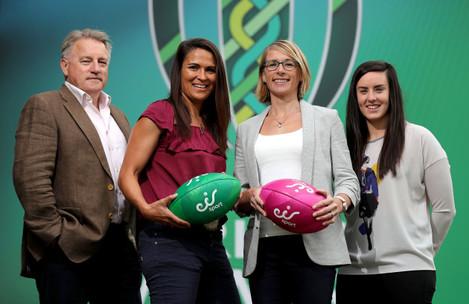 Eddie O'Sullivan Tania Rosser, Sarah Jane Belton and Kim Flood