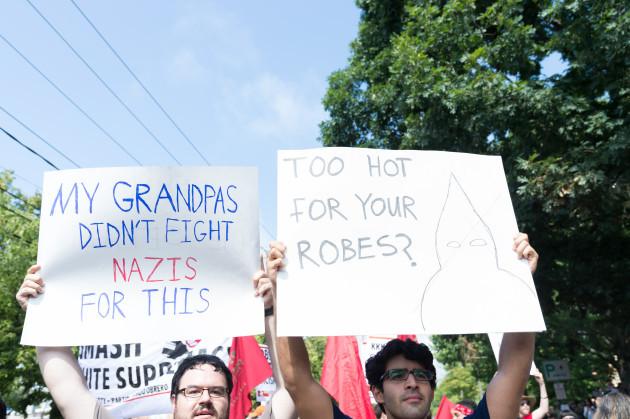 VA: White nationalits clash with liberal demonstrators in Charlottesville